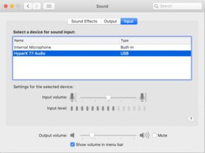 Mic input test on Mac