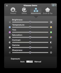 iGlasses Adjustments