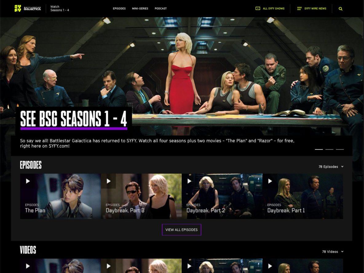SyFy.com free streaming of Battlestar Galactica