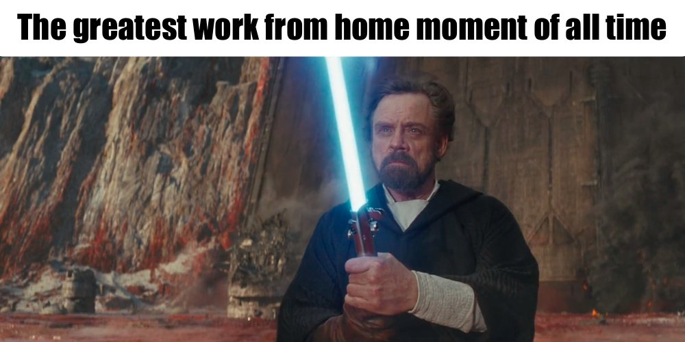 Greatest work from home moment