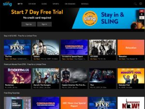 Sling's free TV shows and movies