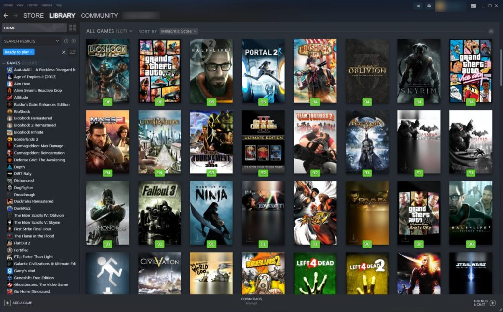 PC Gaming - Steam Game Library